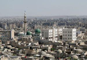 Aleppo in tijden dat fietsers niet zo roekeloos waren.